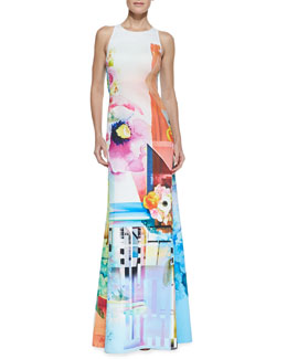 Clover Canyon Florescent Neoprene Maxi Dress