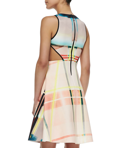 Fluorescent Light Cutout DressCutout Dress