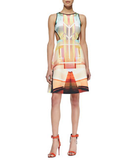 Clover Canyon Fluorescent Light Cutout DressCutout Dress