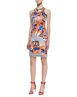 Clover Canyon Floral Discs Racerback Dress