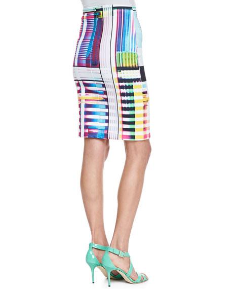 Garden Plaid Neoprene Skirt