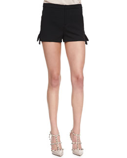 RED Valentino Geometric Bow-Detail Cady Tech Shorts