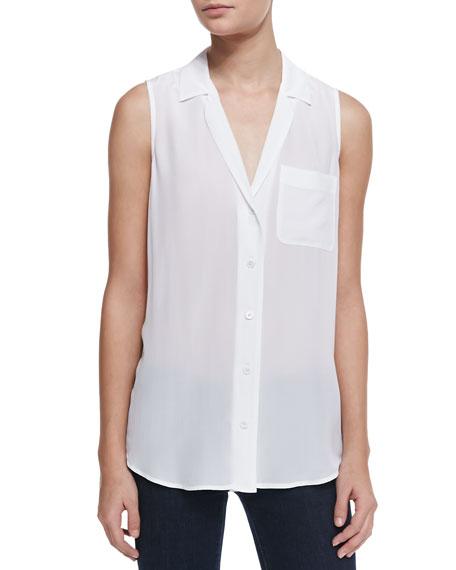 Keira Silk Button-Up Top