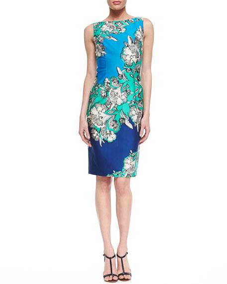 Unknown Floral-Print Sheath Dress