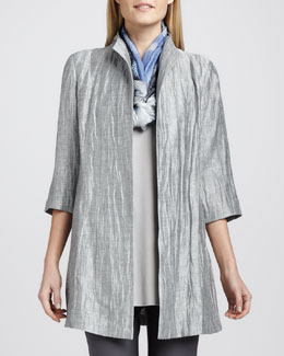 Eileen Fisher Washable Crinkle Sheen Jacket, Petite