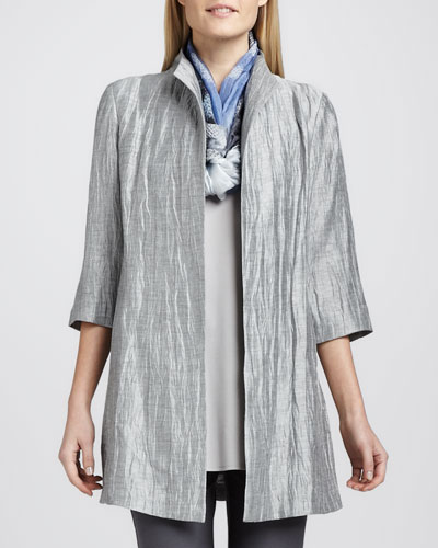 Eileen Fisher Washable Crinkle Sheen Jacket, Women's