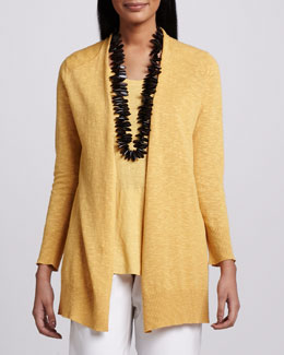 Eileen Fisher Open Slub Cardigan, Petite