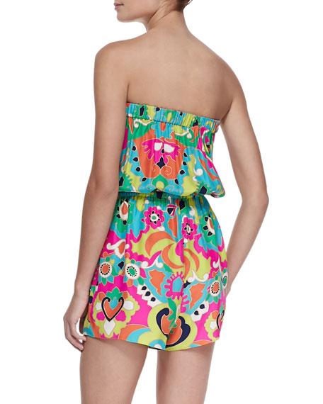 Luna Strapless Jumpsuit, Multicolor