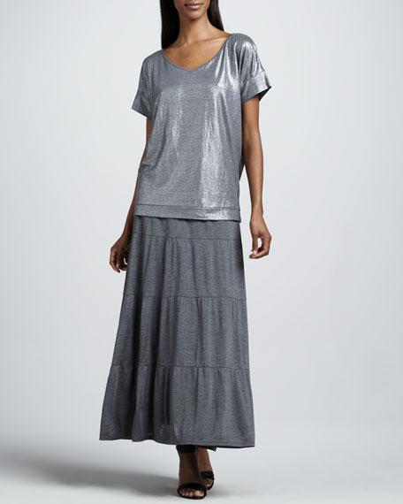 Tiered Maxi Skirt, Petite