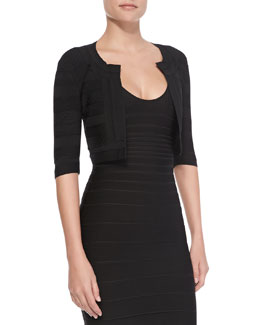 Herve Leger Three-Quarter Sleeve Jacket