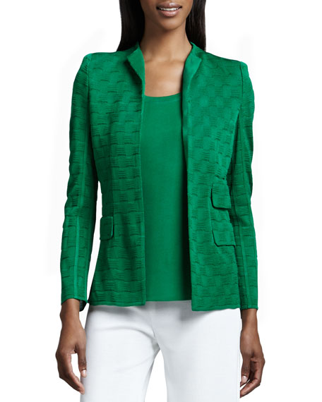 Misook Lilly Textured Jacket, Plus Size
