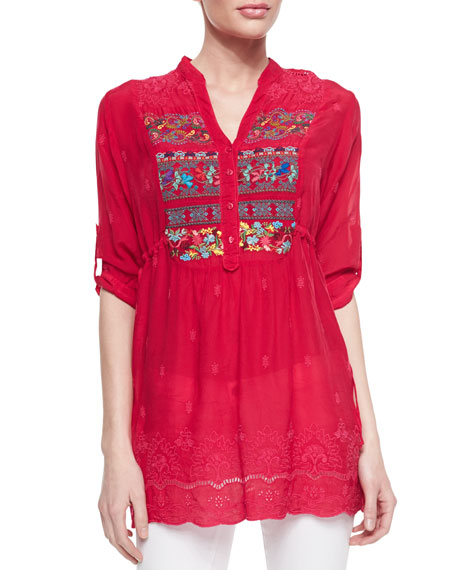 Embroidered Fireworks Blouse, Women's