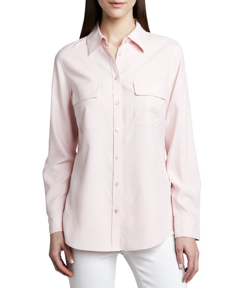 Safari Long-Sleeve Silk Shirt, Women's
