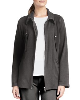 Eileen Fisher Organic Drawstring Jacket, Petite