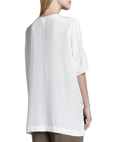 Silk Dolman-Sleeve Tunic