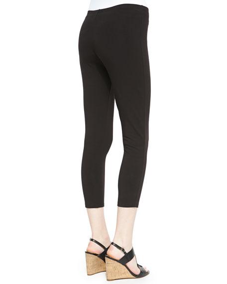 Cropped Leggings, Black