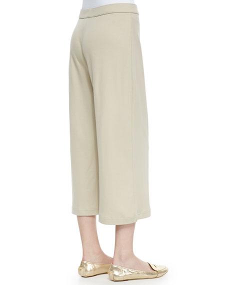 Knit Cropped Wide-Leg Pants, Petite