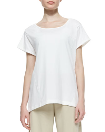 Easy Jersey One-Pocket Tee, White