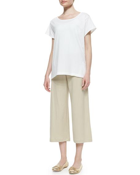 Knit Cropped Wide-Leg Pants