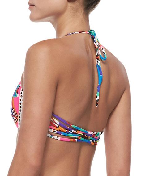 Basketweave Bikini Top