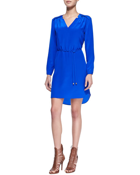 Simon Belted Crepe Shirtdress