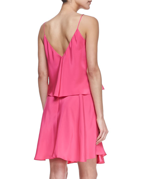 Alana Tiered V-Back Dress
