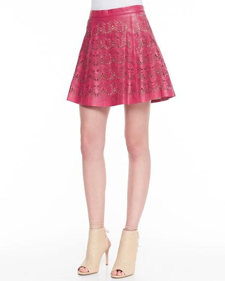 Filomena Perforated Leather Skirt
