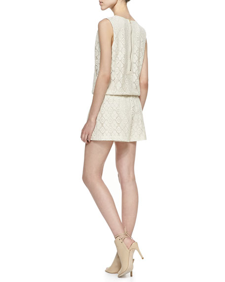 Sleeveless Crochet Lace Romper