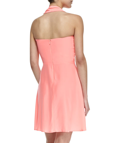 Ballet Pleated Halter Dress, Pink