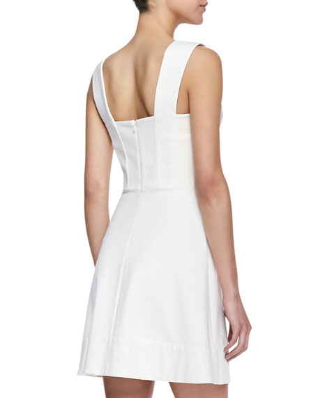 Dixie Fit-And-Flare Mini Dress, Ivory
