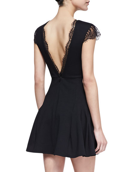 Black Lace Trim Player Dress