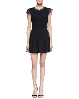 Chalk Black Lace Trim Player Dress
