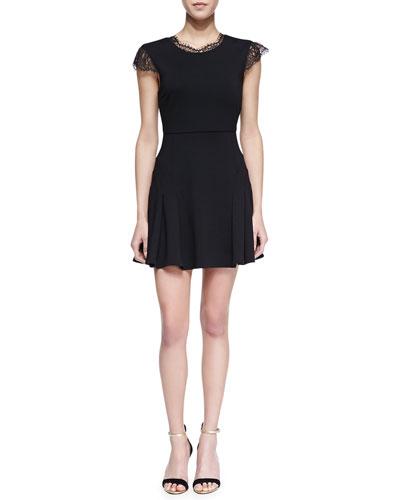 Chalk Black Lace Trim Player Dress