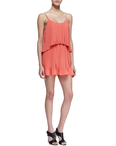 Sunkissed Tiered Coral Dress