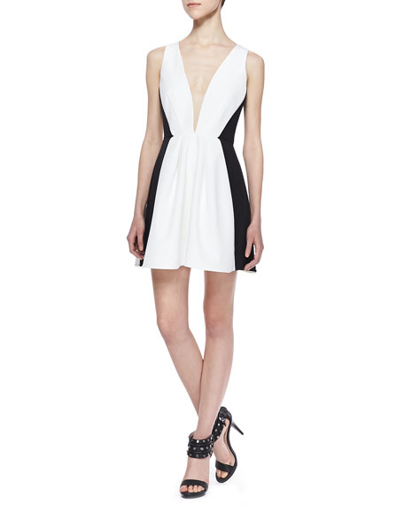 Modern Art Bicolor Mini Dress