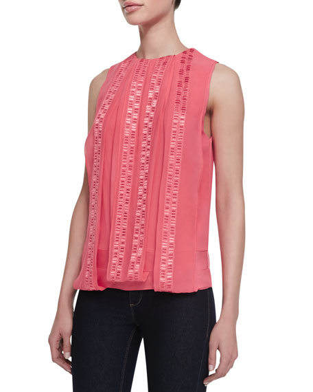 Kuba Embroidered Silk Top