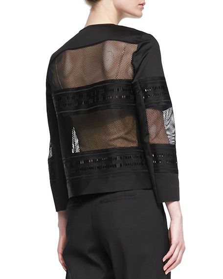 Kuba Embroidered Mesh Jacket