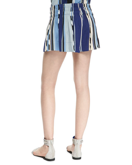 Ocean Striped Pull-On Shorts