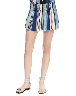 Ella Moss Ocean Striped Pull-On Shorts