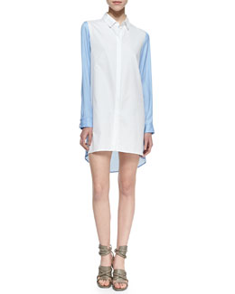 Chalk Mallet Colorblock Shirtdress