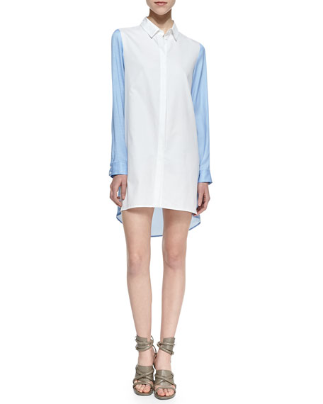 Mallet Colorblock Shirtdress