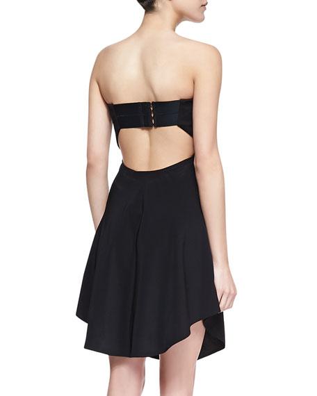 Strapless Deep Sweetheart Open-Back Dress