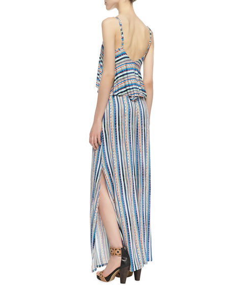 Bondi Striped Tiered Maxi Dress