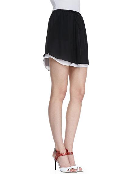 Arizona Silk Short Skirt