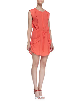 A.L.C. Simona Silk Sleeveless Dress