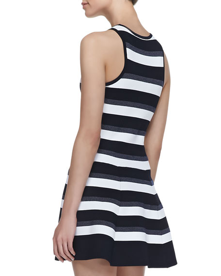 Huntington Fit-and-Flare Stripe Dress