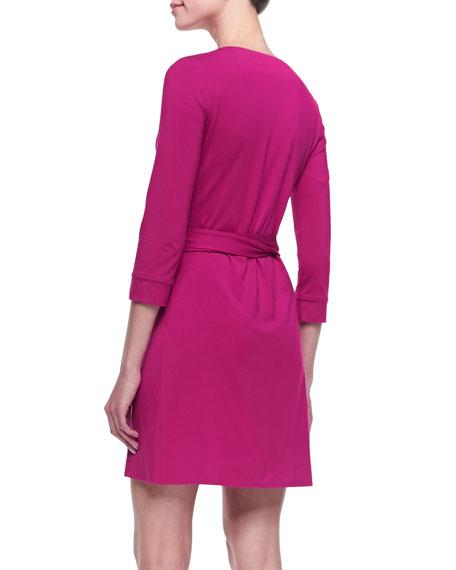 New Julian Two Mini Wrap Dress, Pink Dahlia