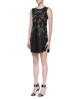 Diane von Furstenberg Indiana Studded Leather Dress