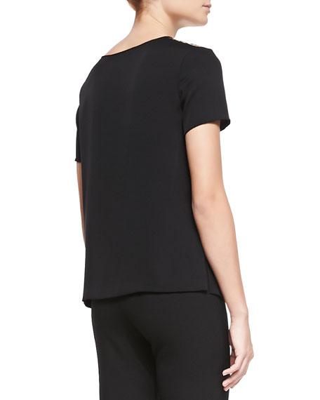 Becky Printed Short-Sleeve Top