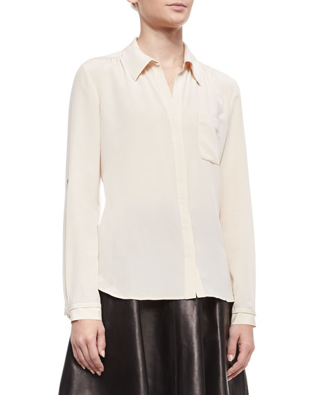Lorelei Long-Sleeve Silk Blouse
